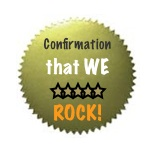 Confirmation that we Rock!
