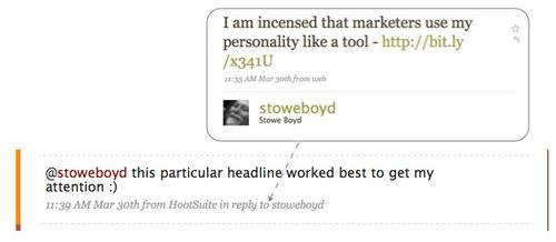 Twitter Exchange with Stowe Boyd