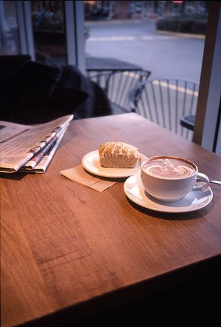 Coffee News and danish