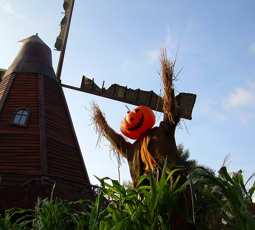 Windmill and strawman