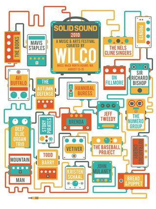 Solid Sound Festival Poster by Nicole Blauw Design
