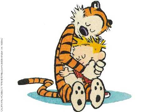 Calvin hobbs hug