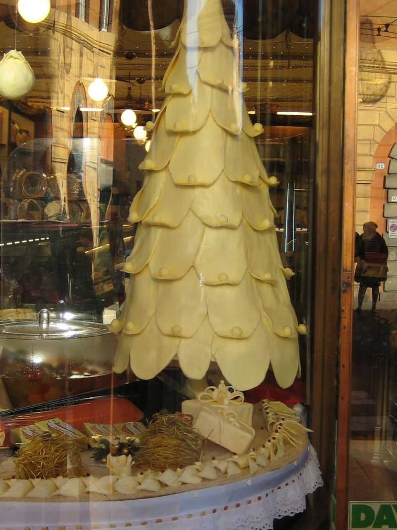 Christmas Tree Made of Butter