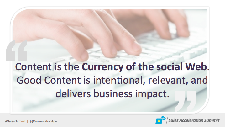 Content as Currency of the Social Web