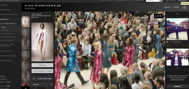 Burberry Live Streaming Show