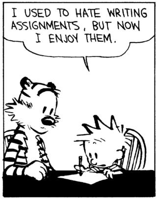 Now I enjoy writing