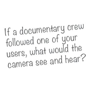 If a documentary crew