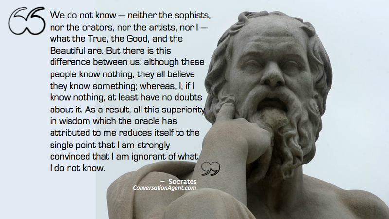 Socrates' know what I d on't know