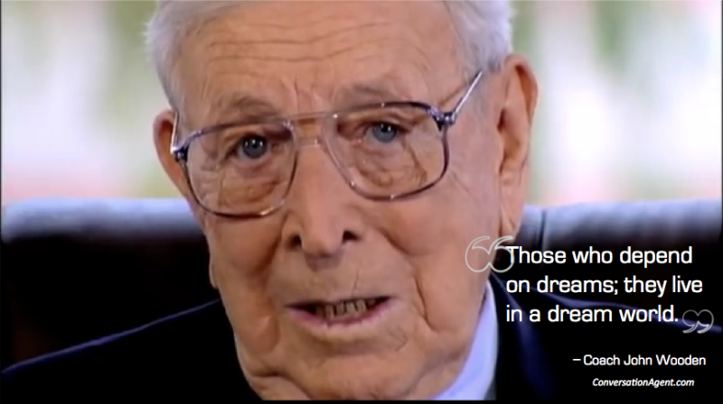 John Wooden on Values victory and peace of mind