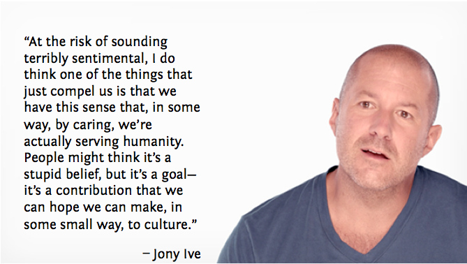 Contribution by Caring Jony Ive