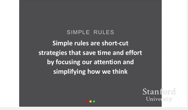 Defining simple rules