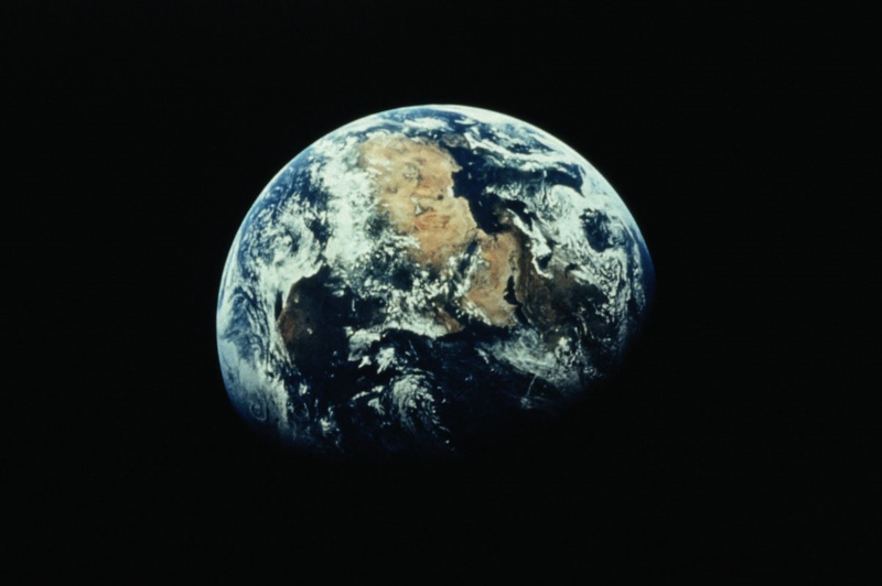 Earth from space first image