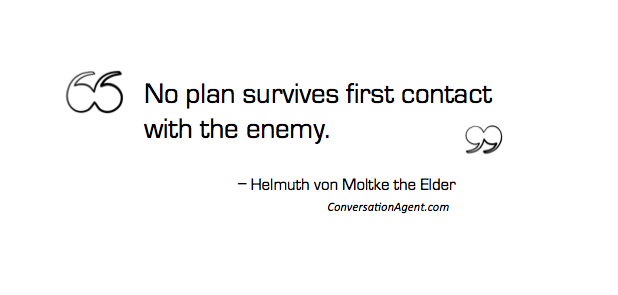 No plan ever survives first contact
