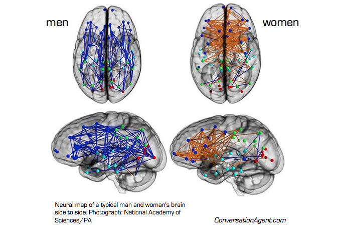 Men and women brain scans