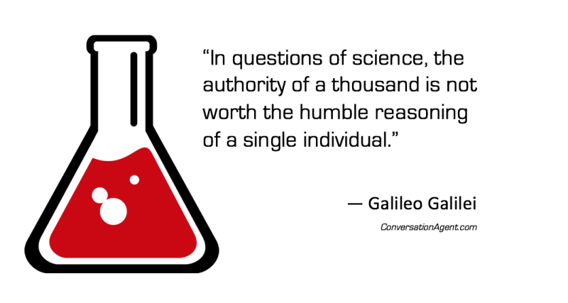 In questions of science use reason