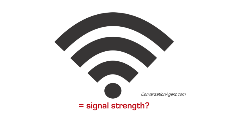 Are bars a true indicxation of signal strength?