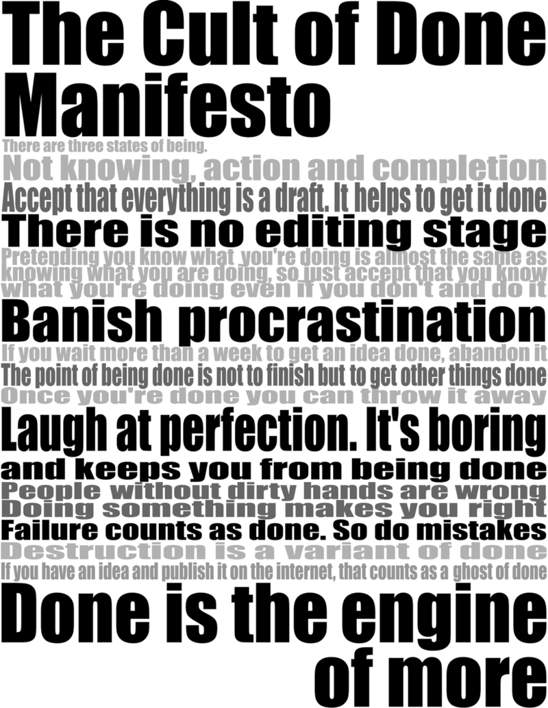 Cult of done_manifesto