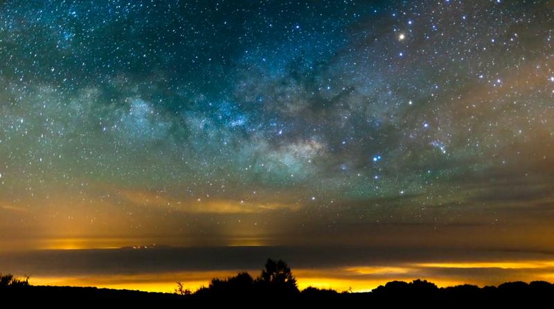 Milky Way and Mountain on El Teide.