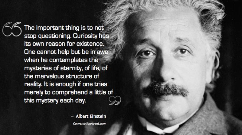 Albert Einstein on means and goals