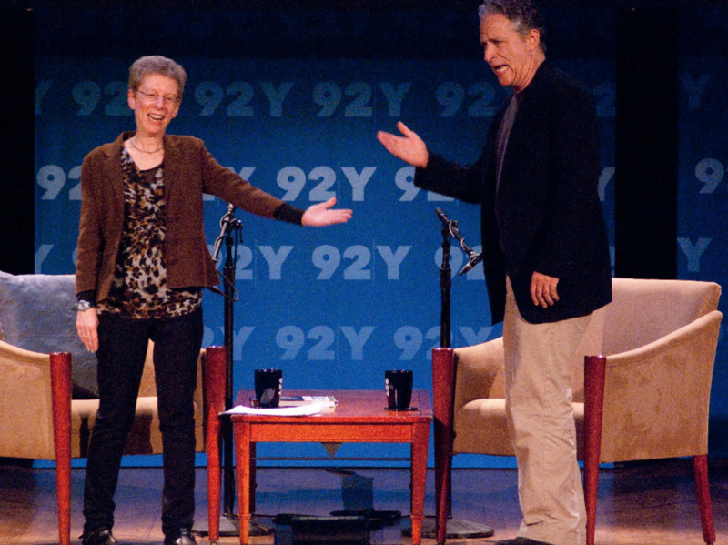 Terry Gross and Jon Stewart