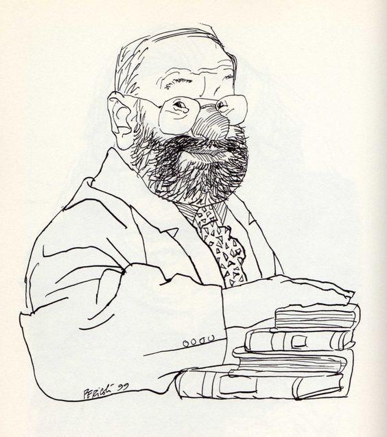 Umberto Eco by Tullio Pericoli