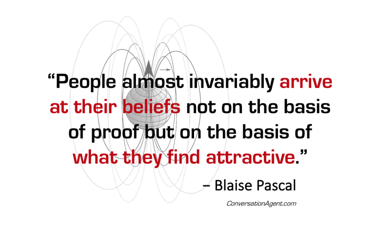 People arrive at their beliefs through attraction
