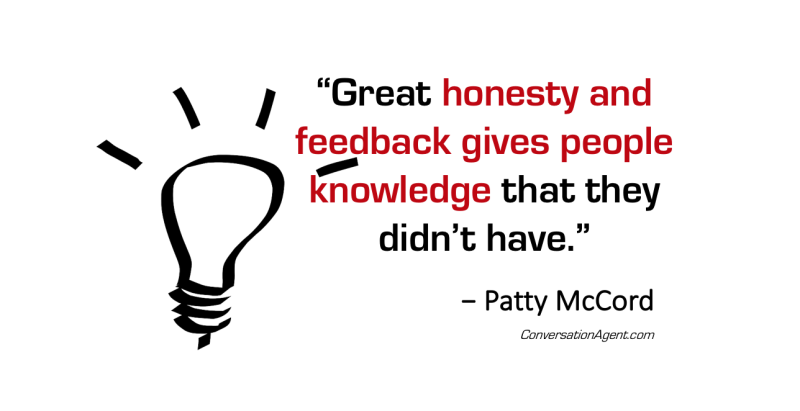 Honesty and feedback