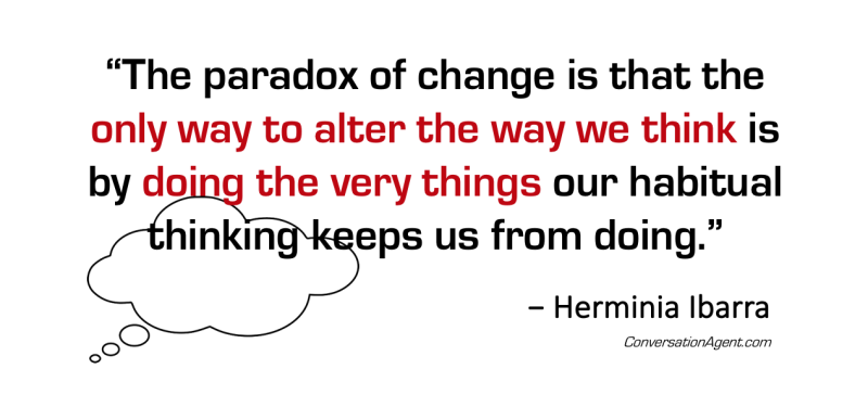 Think different by doing