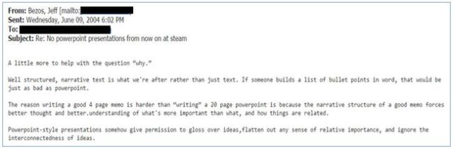 Bezos email 2004