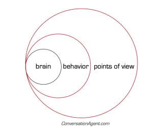 Brain behavior points of view