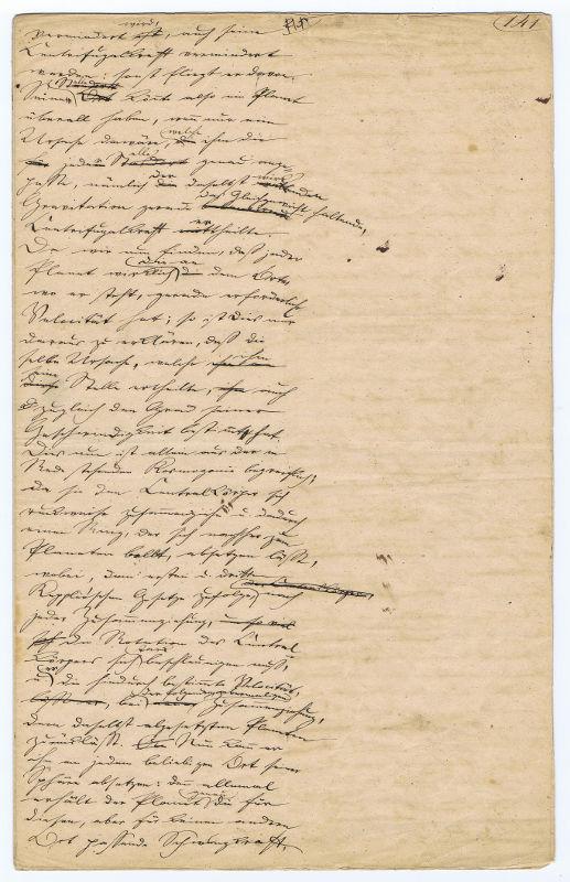 Schopenhauer manuscript